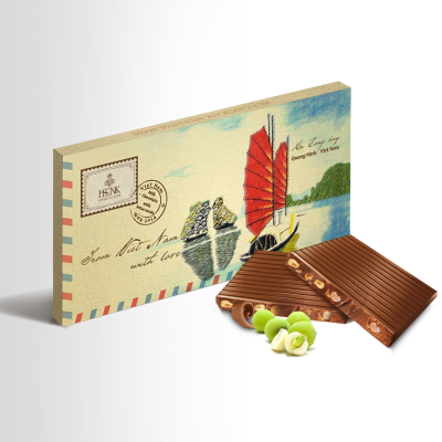 Henk Milk Chocolate with Lotus Seeds in Envelope Box 100g