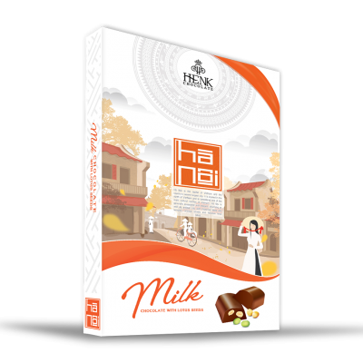 Henk Milk Chocolate with Lotus Seeds in Vietnam Landscape Box 150g